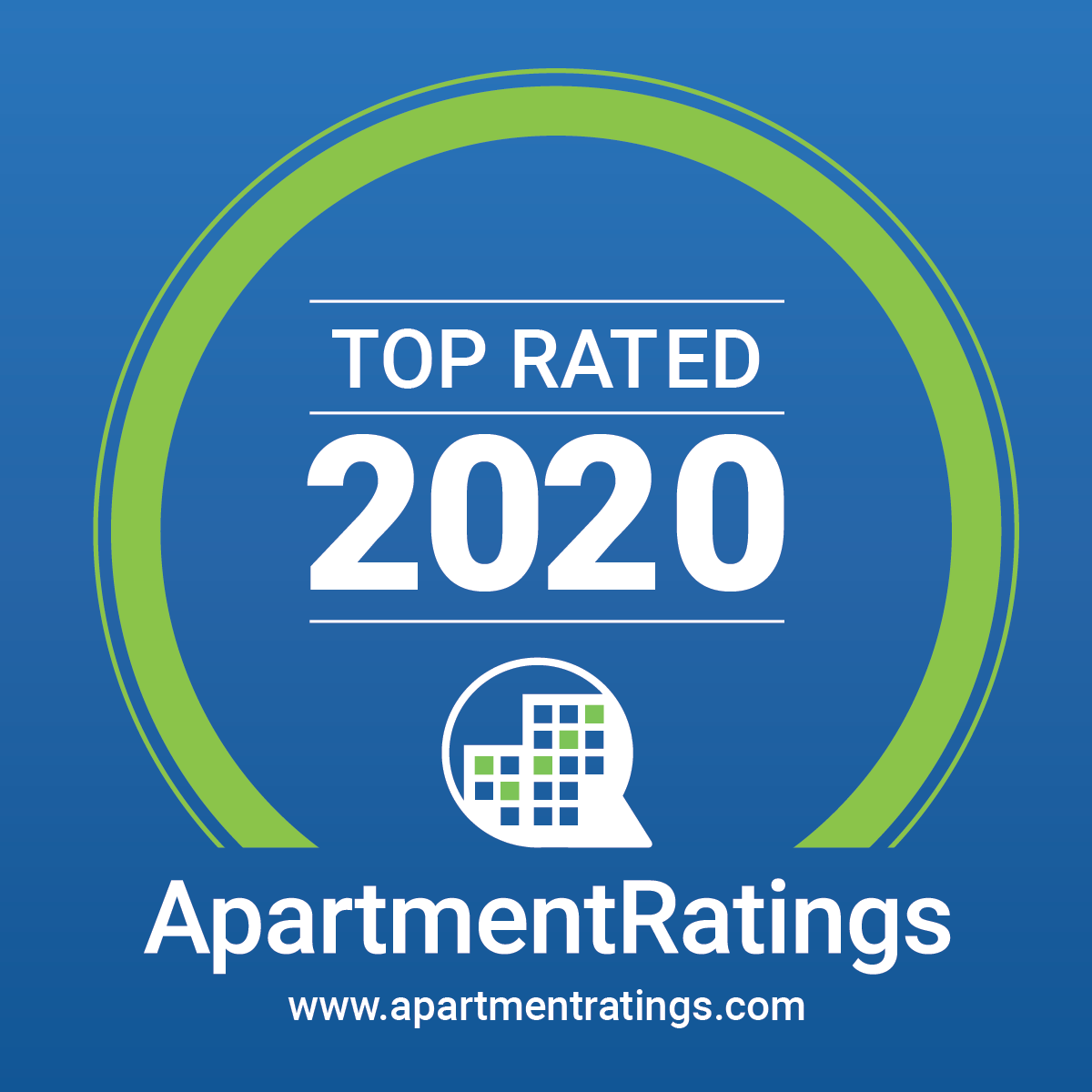 Top Rated 2019 Apartment Ratings award logo